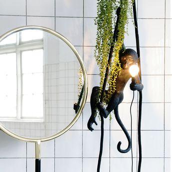 Lampă suspendată interior/exterior MONKEY CEILING BLACK