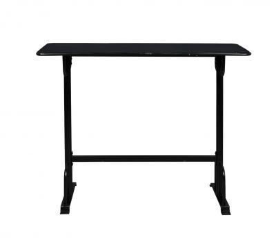 Masă de bar DECLAN BLACK 140x50 cm