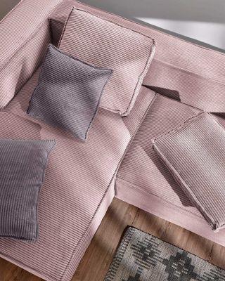 Husă de pernă WILNA CORDUROY Grey 45 x 45 cm