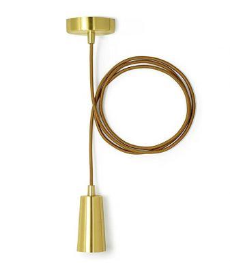 PLUMEN DROP CAP BRASS E27 LAMPA SUSPENDATA