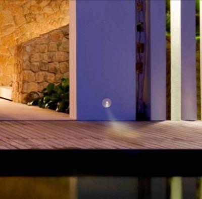 Lampă de exterior încastrată în perete MONI SQUARE WHITE