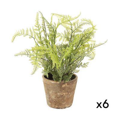 Plantă artificială FERN - Set de 6 buc.