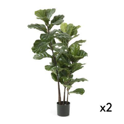 Plantă artificială LYRATA - Set de 2 buc.