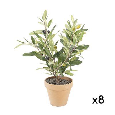 Plantă artificială OLIVE -Set 8 buc.