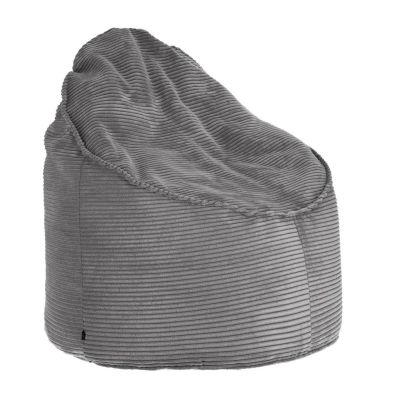 Taburet ZORA Corduroy Grey 80 cm