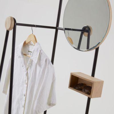 Oglindă-Cuier TALLE BLACK