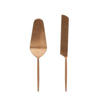 Spatule de metal pentru prajituri ERINA ROSE GOLD