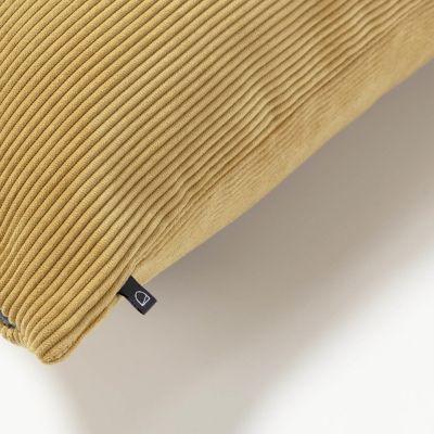 Husă de pernă NAMIA Corduroy Mustard 60 x 60 cm