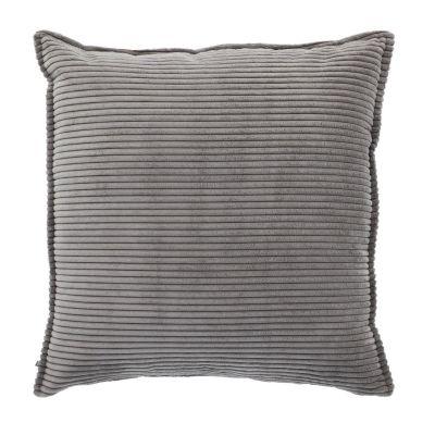 Husă de pernă WILNA CORDUROY Grey 60 x 60 cm