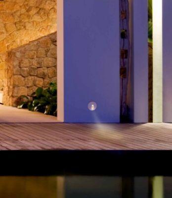 Lampă de exterior încastrată în perete MONI ROUND WHITE