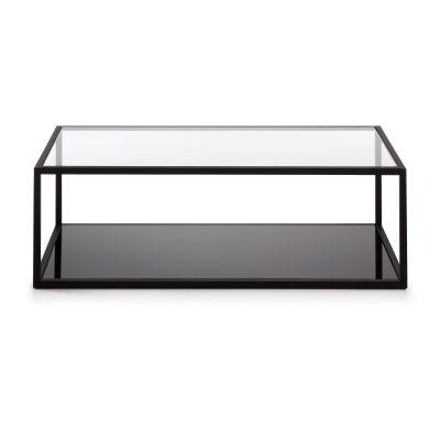 Masuta de cafea GAEL Black/clear 110x60 cm