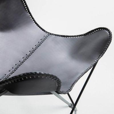 Fotoliu FLIAN Black leather