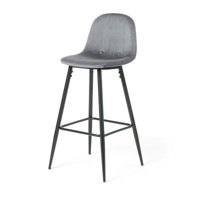 Scaun de bar BOLSON Grey-Black