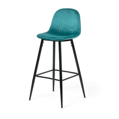 Scaun de bar BOLSON Turquoise-Black