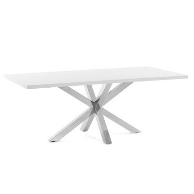 Masa ELLE Steel White 160 / 180 / 200 x 100 cm