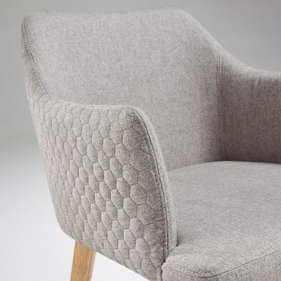 Scaun CHARLESTONE LIGHT GREY - WOOD LEGS
