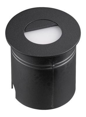 Lampă de exterior încastrată în perete AMAR ROUND BLACK