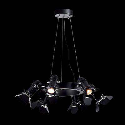 CINEMA 6 BLACK Lampă suspendată