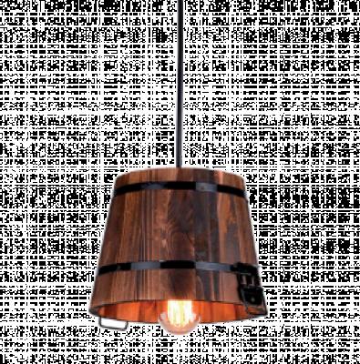 PAIL WOOD Lampă suspendată