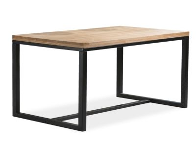 Masă LUIS BLACK 120/150/180 x90x78 cm