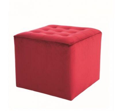Taburet ROSSO VELVET RED