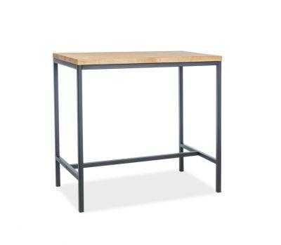 Masă de bar TORIS BLACK 110x60x100 cm