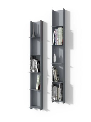 Raft perete LIBRI GREY