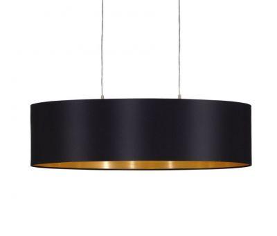 Lampă suspendată MASERLO BLACK/GOLD 78 / 100 cm