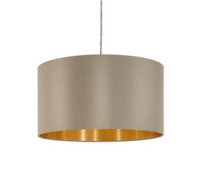 Lampă suspendată MASERLO ROUND TAUPE/GOLD 38 / 53 CM
