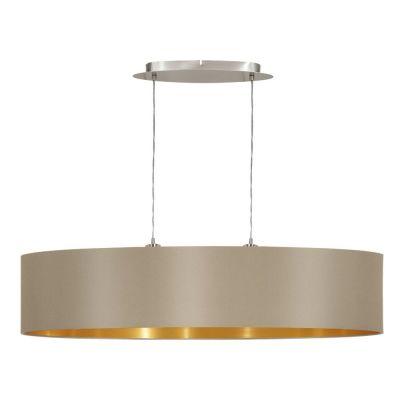 Lampă suspendată MASERLO TAUPE/GOLD 78 cm