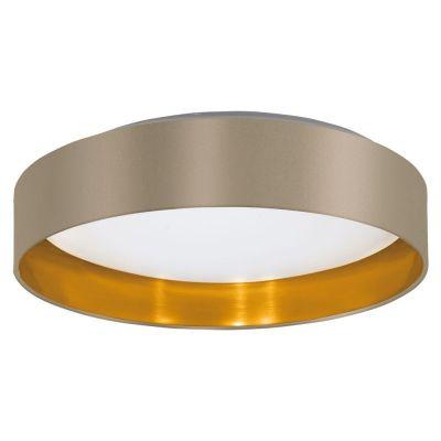 Lampă de tavan MASERLO TAUPE/GOLD