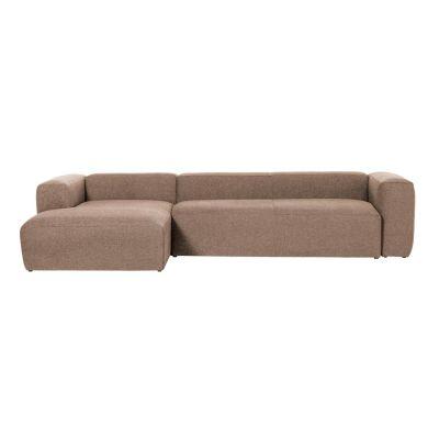 Canapea cu 3 locuri BOLORE LEFT PINK 330 cm