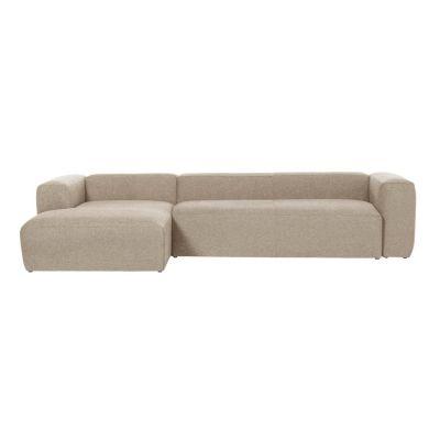 Canapea cu 3 locuri BOLORE LEFT BEIGE 330 cm