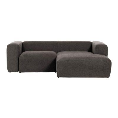 Canapea cu 2 locuri BOLORE RIGHT SOFT GREY 240 cm