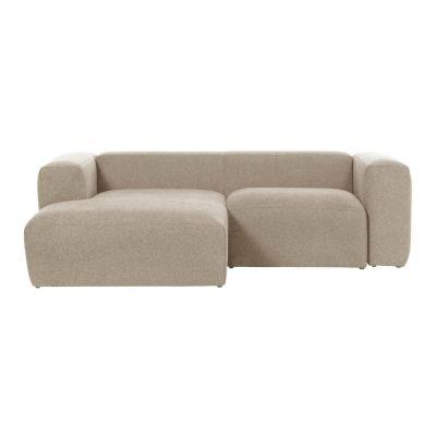 Canapea cu 2 locuri BOLORE LEFT BEIGE 240 cm