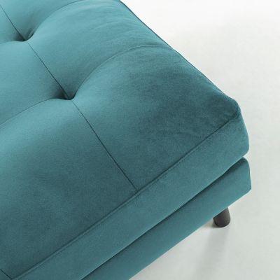 Taburet BOGARA VELVET Turquoise
