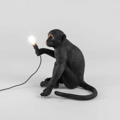 Lampă de masă exterior MONKEY SITTING BLACK